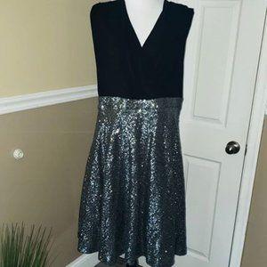 Torrid Black & Silver Sequin Cocktail Party Dress